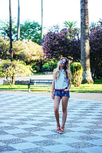 top dear diary shorts blogger shoes bag sunglasses