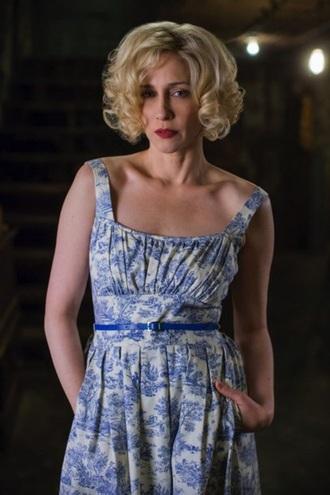 dress tv show vintage blue dress white dress floral