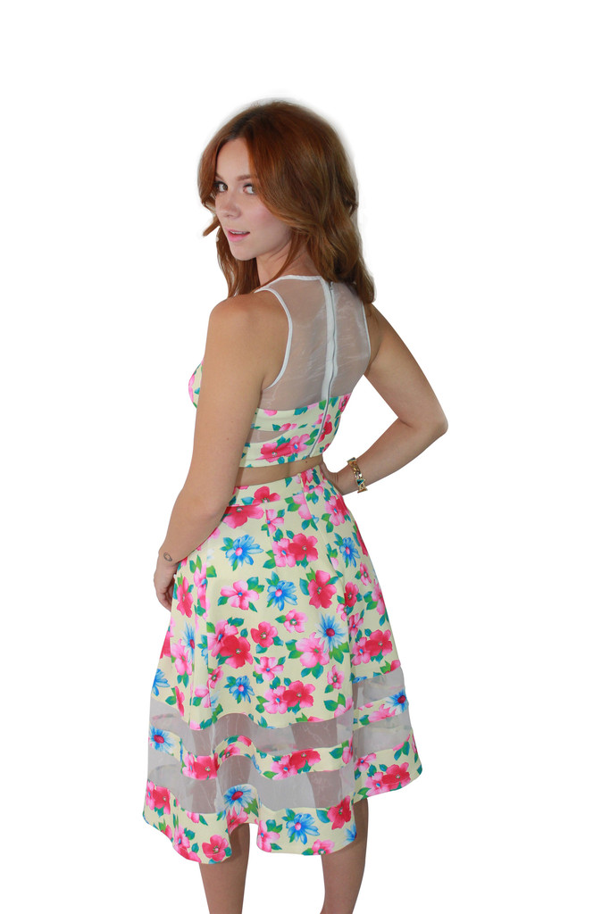 Tropical Dream Floral Crop Top and Skirt Set – Shop Compulsive