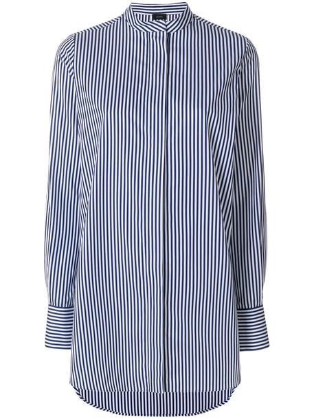 Joseph shirt striped shirt long women cotton blue top