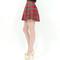 Checker plaid school girl red skater skirts