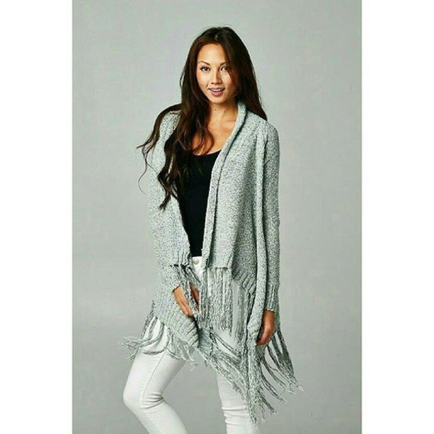 cardigan fringes fringe sweater trendy sweater weather fall outfits fall outfits boho bohemian lovestitch fringe cardigan fall outfits winter outfits