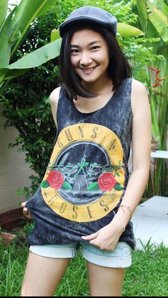 guns and roses shirt tank top guns  n roses top gun n roses tank top gun n roses guns 'n roses vest