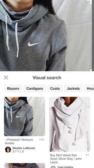 jacket nike grey cute fall outfits