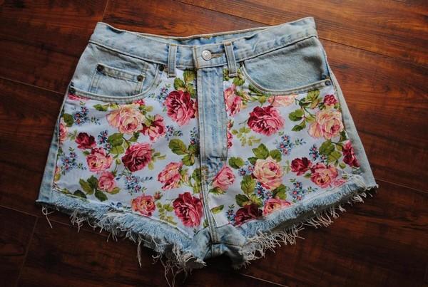 shorts floral denim pants flower hotpans nice flowers