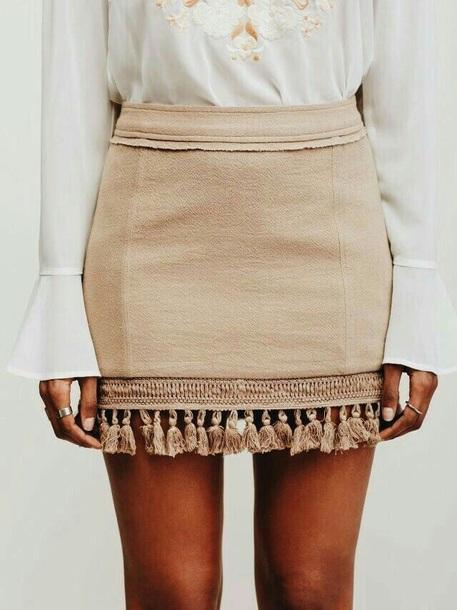 skirt fringes fringe skirt short skirt summer fall outfits summer outfits