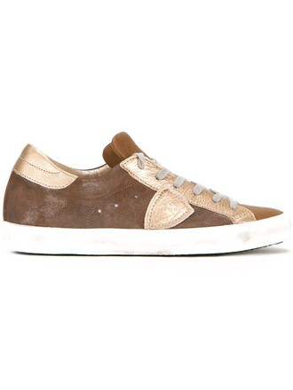 women sneakers leather brown shoes