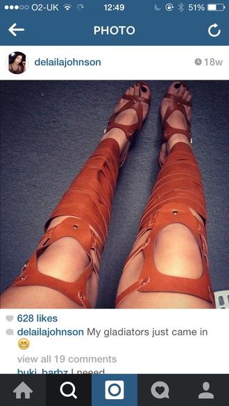 brown gladiators sandals