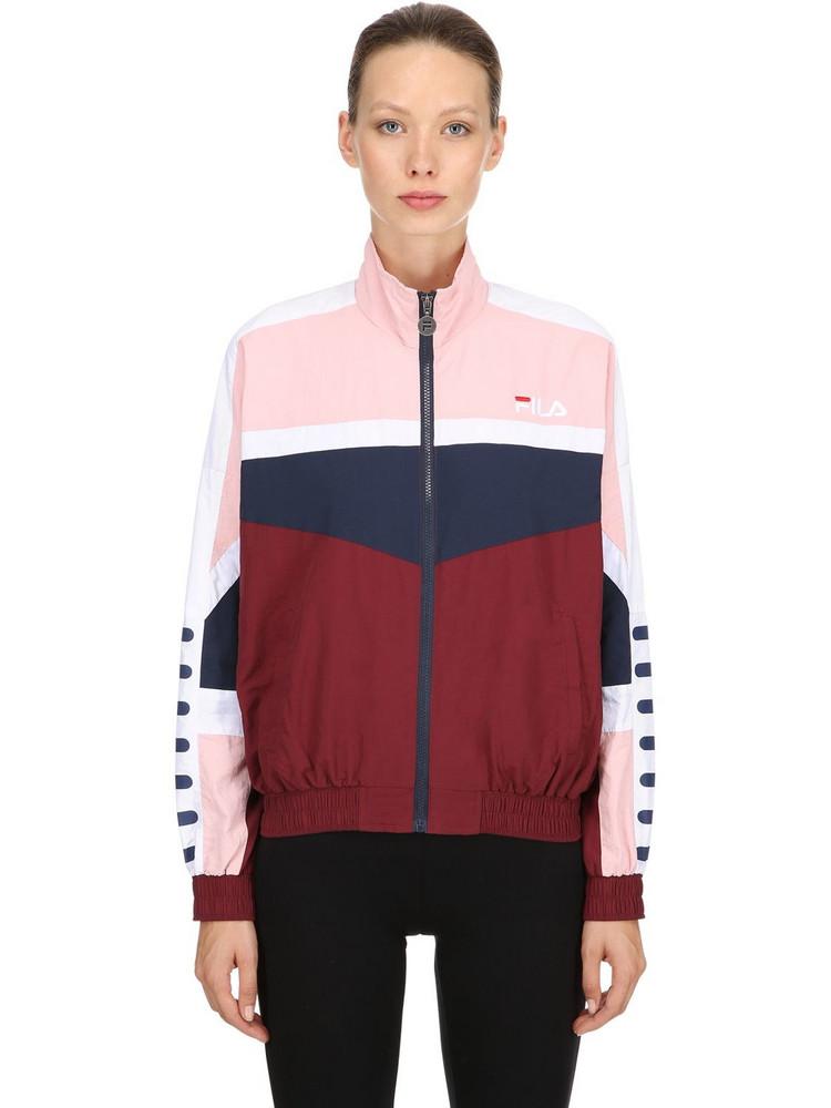 FILA URBAN Orlena Woven Track Jacket in pink