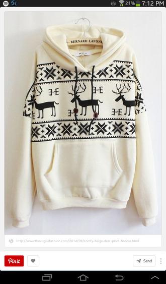 deer jumper hoodie