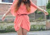dress,coral,flowy,pink,cute,perfect,lovely,funny,dressy,flirty,gorgeous,outfit,pink belt stress cute