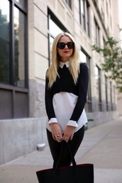 shirt,cropped sweater,sweater,black,collared,collared shirts,cute,cute sweater,cute sweaters,top,jumper,fashion