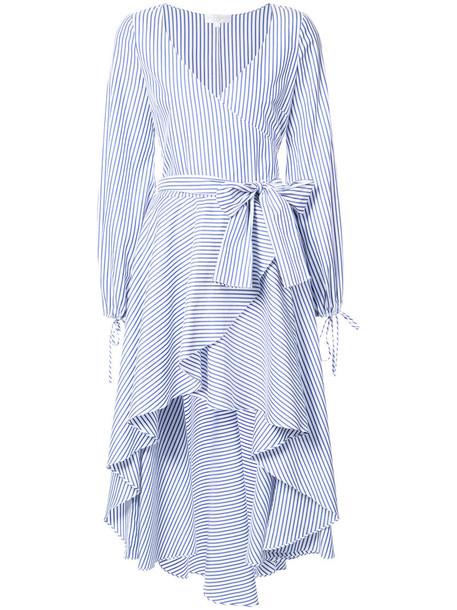 Caroline Constas dress wrap dress women cotton blue