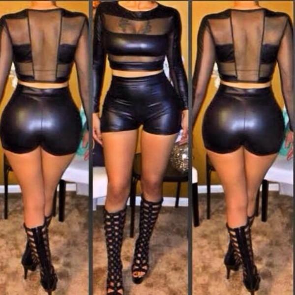 jumpsuit leather