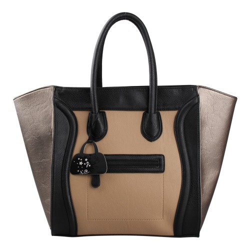 Classic brown and black women tote bag