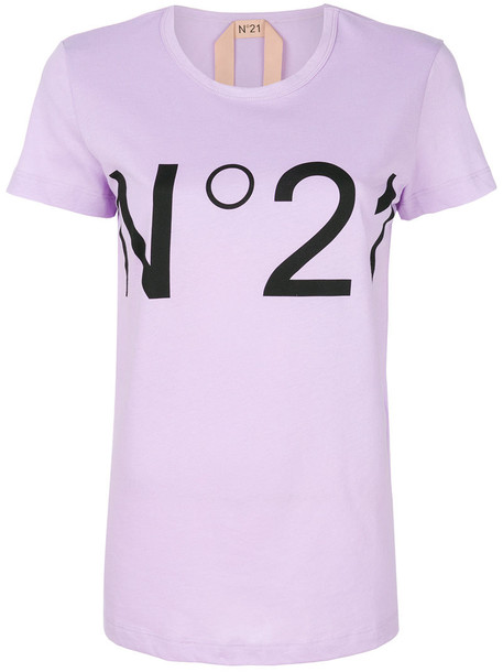 No21 t-shirt shirt t-shirt women cotton purple pink top
