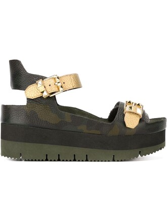camouflage sandals green shoes