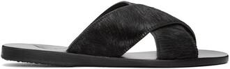 hair sandals black shoes