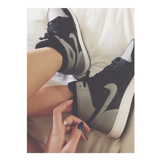 online store 2dc8e f0783 shoes black grey nike sneakers high like tumblr weheartit white amazing  swag style nikes high top