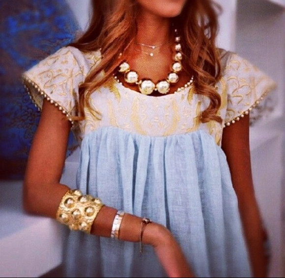 blue baby blue creme ivory ivory lace ivory lace top ivory lace dress short sleeve shirt short sleeve top short sleeve dress gold powder blue