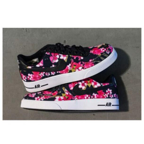 flowers nike shoes