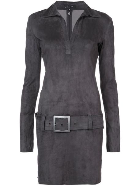 JITROIS dress belted dress women grey