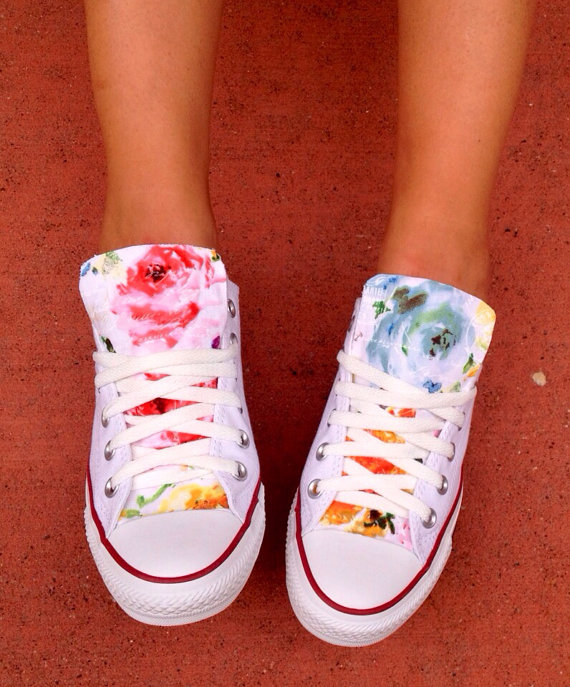 Custom Floral Converse Chuck Taylor Shoes