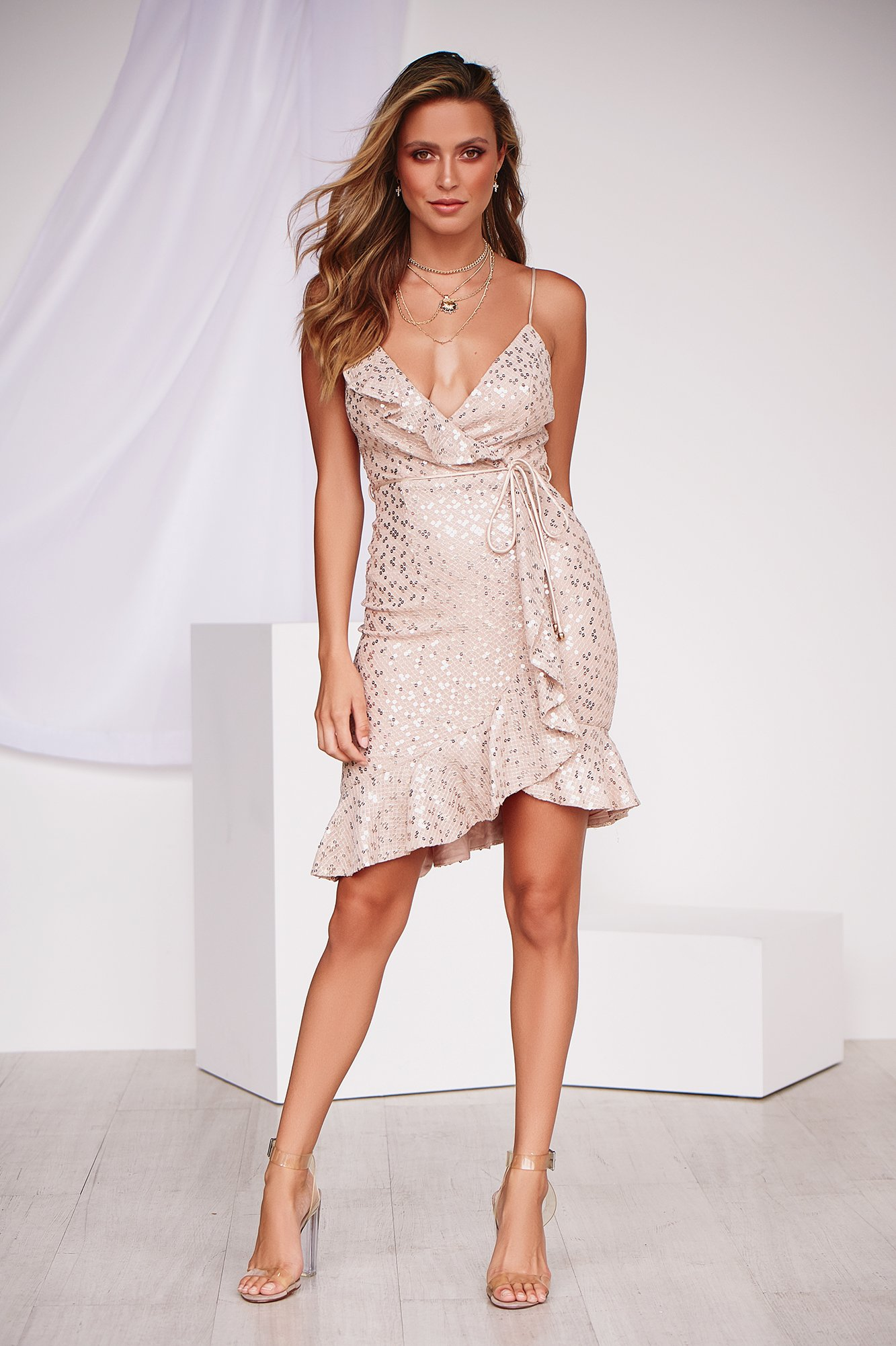 Suddenly in Love Dress (Champagne)