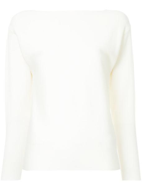 Des Pres jumper turtleneck women white wool sweater