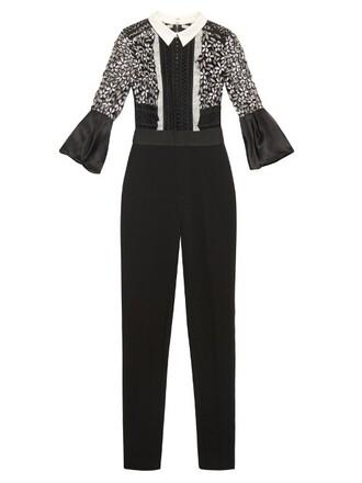 jumpsuit lace white black