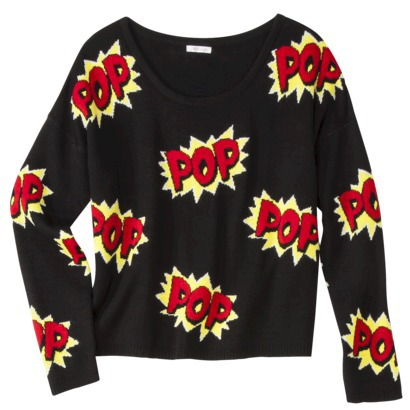 Xhilaration Juniors Pop Pullover Sweater - Black Xs(1) | $24.99 | Pullover Sweaters