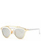 Butterfly rimmed sunglasses - white