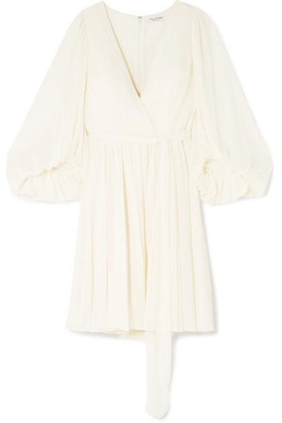 Halston Heritage dress mini dress mini chiffon cream