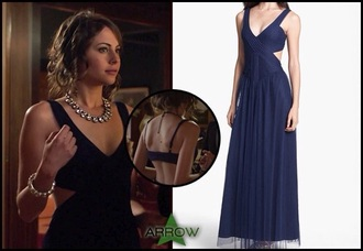 dress blue wedding long dress thea queen bridesmaid arrow