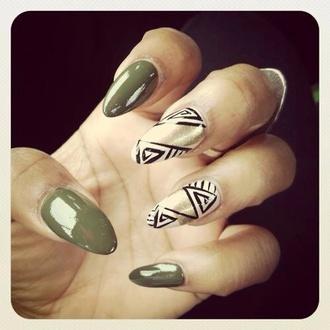 nail polish tribal pattern claws