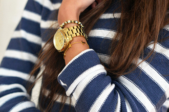 blue and white striped stripes white blue sweater striped sweater blue and white striped sweater knitted sweater striped knit sweater jewels