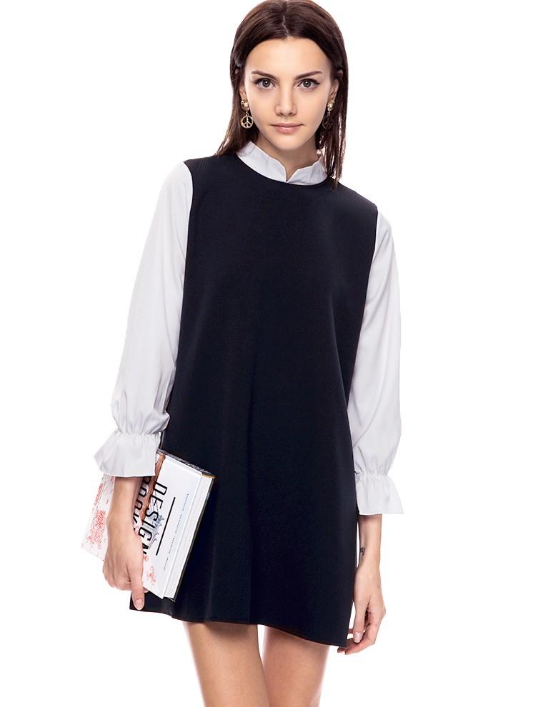 Navy collar babydoll dress