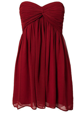 dress red dress party christmas burgundy celebration wedding tube short short dress little red dress new year's eve tube dress bandage chiffon dress