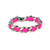 Hot Pink Woven Chain Bracelet | Created by Fortune