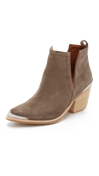 Jeffrey Campbell suede booties booties suede taupe shoes