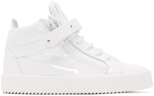 Giuseppe Zanotti high london sneakers leather white shoes