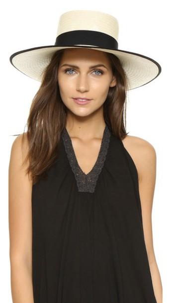Artesano Polo Natural Hat - Natural/Black
