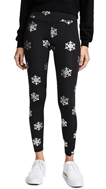 Terez leggings snowflake print silver pants