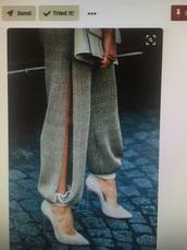 pants,grey,silver
