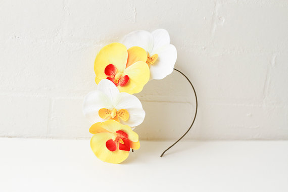 orchid flower headband / statement spring racing by kisforkani