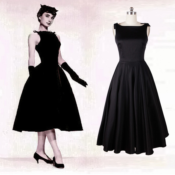 50s style audrey hepburn hepburn Pin up Pin up Pin up pinup dress Pin up black dress party dress prom dress 50s style 50s dress 50s dresses dance dress