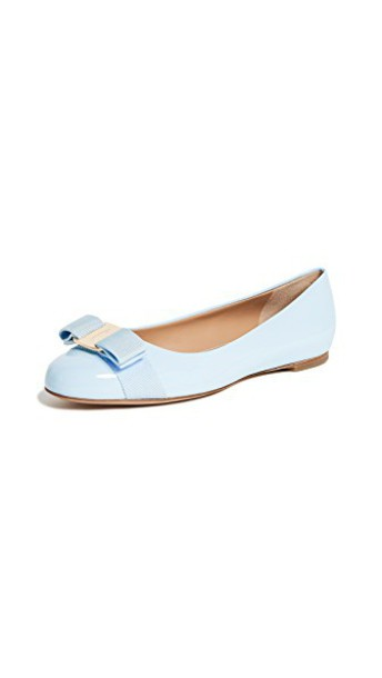 Salvatore Ferragamo flats pale blue shoes
