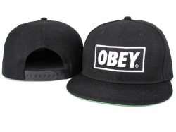 Obey Snapback Hat&Cap Black Cheap [Obey011] - $7.50 :