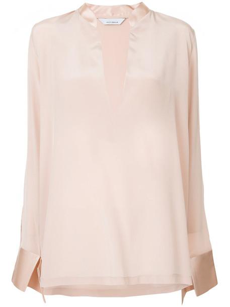 Kacey Devlin blouse women silk top