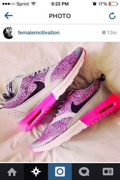 pink shoes airmax